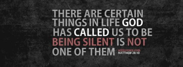 Please don't stay silent - help others!