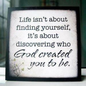 In God's love, you truly find yourself