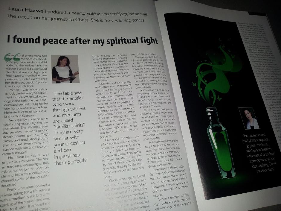Testimony in Direction magazine - Elim Pentecostal