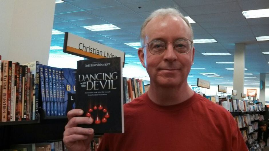 Jeff with a copy of his 2nd book in a store in Florida.