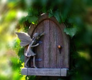 What's truely behind that 'fairy' door? Have you ever challenged them in Christ's Name?