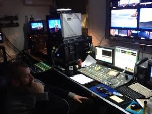 Doug in the studio, Revelation TV.