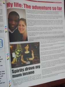 My testimony in Destiny newspaper 'Encounter.'
