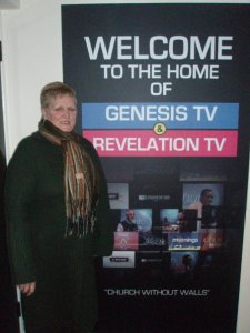 Freda, when we went to Revelation TV, 2009.