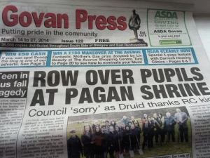 Front page of SouthSide & Govan Press.