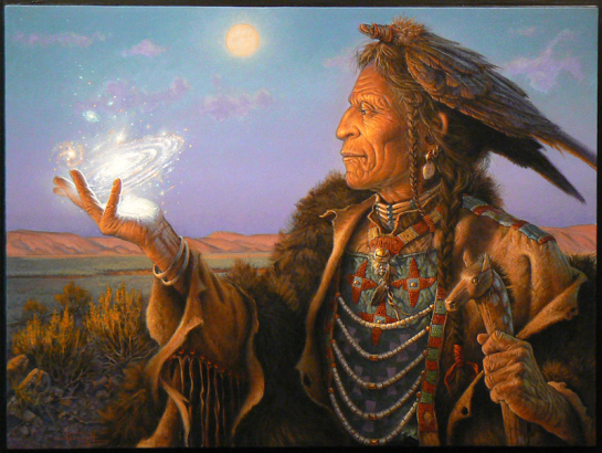 Shaman, sorcerer, high priest – broke free from spirits