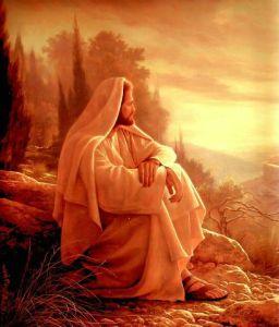 Jesus overlooks Jerusalem