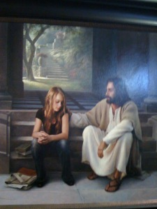 Jesus with a young lady