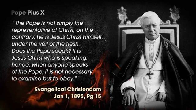 Popes teach people not to doubt anything they say!