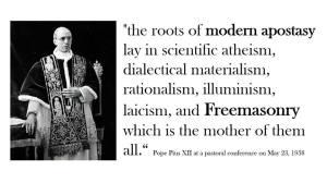Freemasonry apostasy-ven-pope-pius-xii