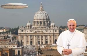 Vatican alien UFO mothership Pope