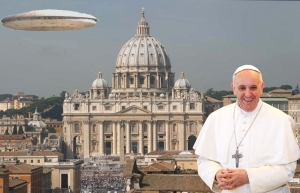 Vatican alien UFO mothership Pope