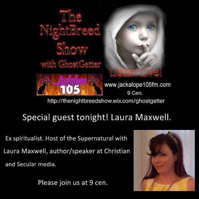 Laura on The Nightbreed Show with Mike GhostGetter, Dallas.