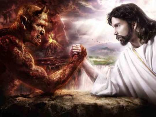 Jesus overcomes Satan