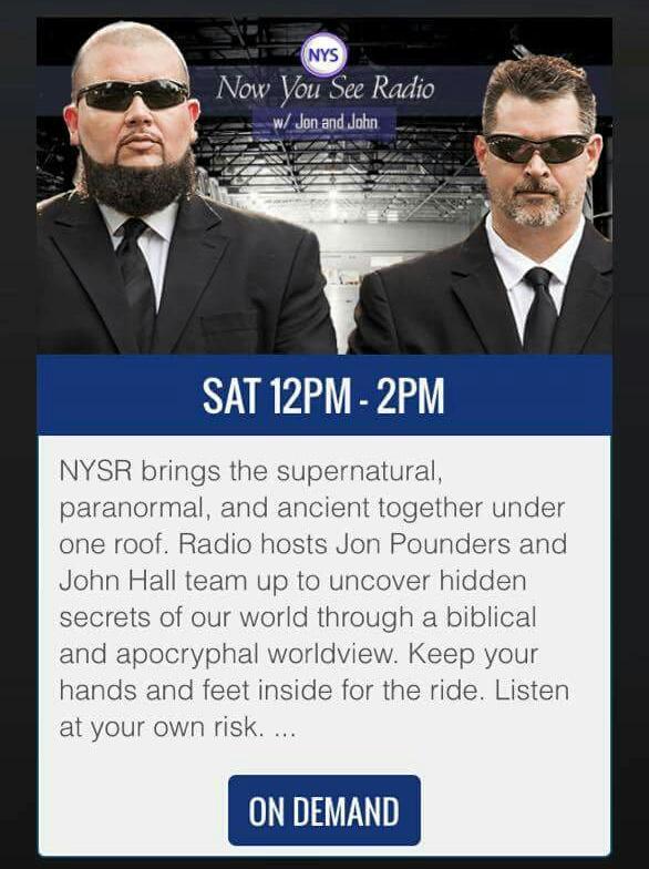 Now You See Radio on TFR w Jon Pounders n John Hall 2