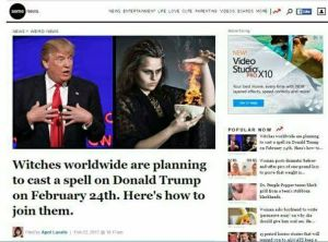 Mass Ritual Spells Attempted On Trump