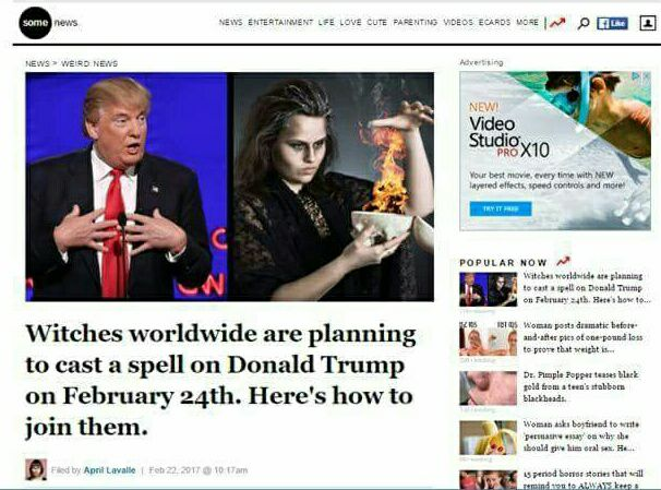 Mass Ritual Spells Attempted On Trump