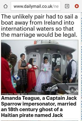 Amanda Teague Marries Ghost 3