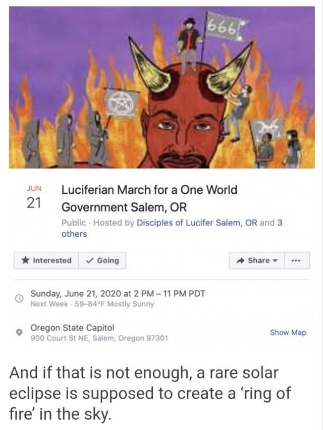 Luciferian NWO March