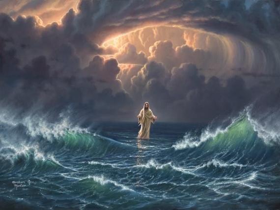 Jesus in storm